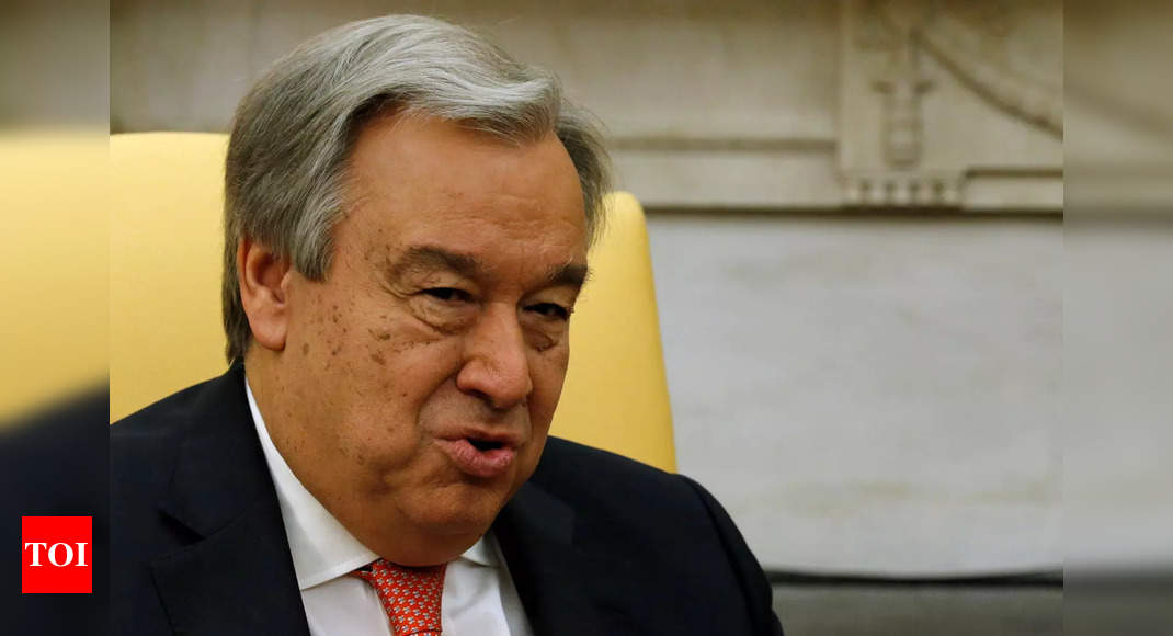 The head of the UN, Antonio Guterres, appointed for a second term