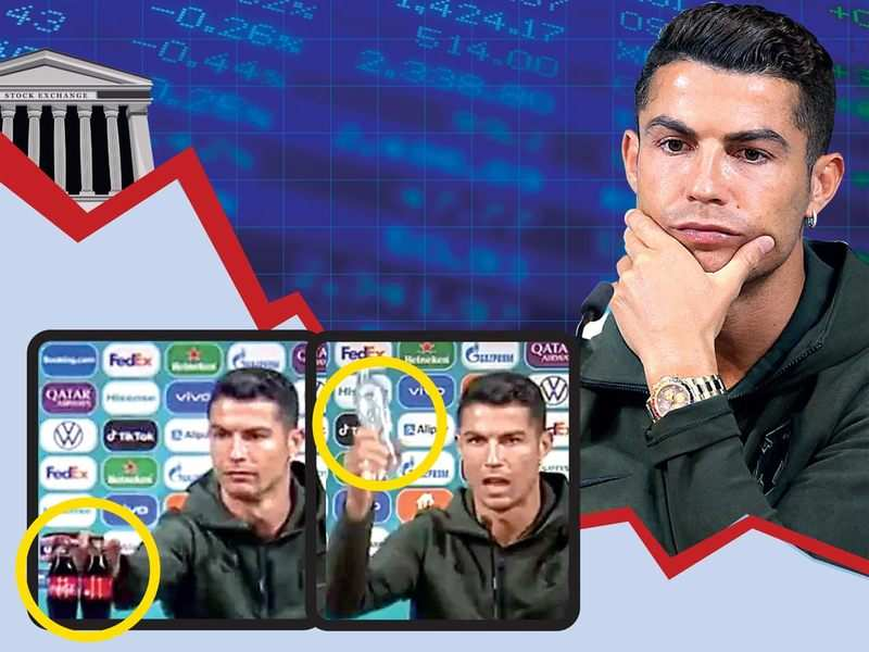 Cola-teral damage: Christiano Ronaldo cost Coca-Cola $4 billion when he switched the fizzy drink's bottles with water during a press con