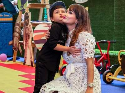 Nisha Rawal shares pics from son's birthday
