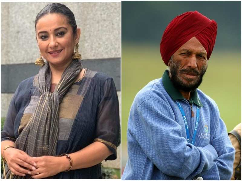 Divya Dutta and Milkha Singh