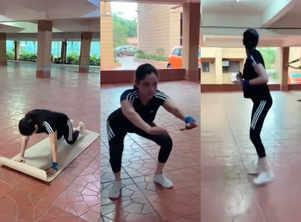 Ankita Lokhande shares workout video