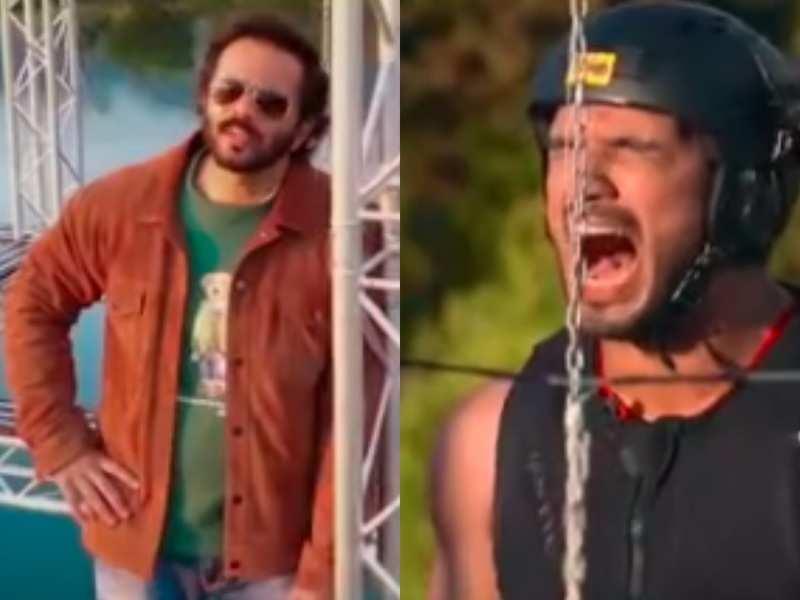 Khatron Ke Khiladi 11 promo: Arjun Bijlani gets 'bijle ke jhatke' during a task; his antics make Rohit Shetty laugh