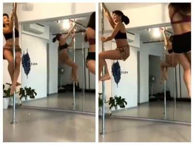 Watch: Jacqueline shares pole dance routine