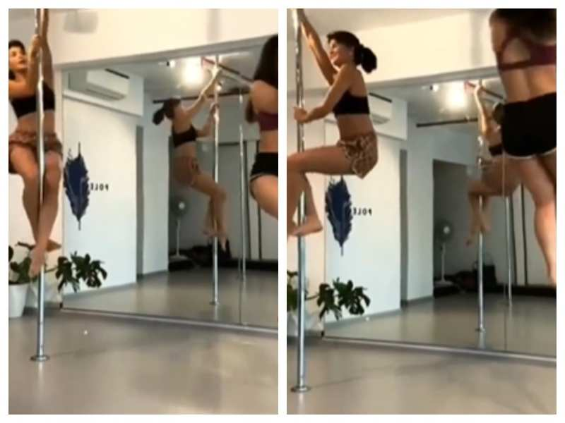Jacqueline Fernandez will make your jaw hit the floor with her pole dance routine - watch