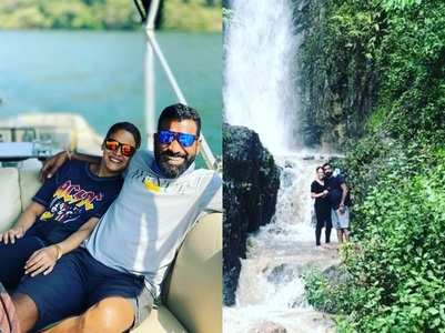 Mona Singh on a vacation with hubby Shyam