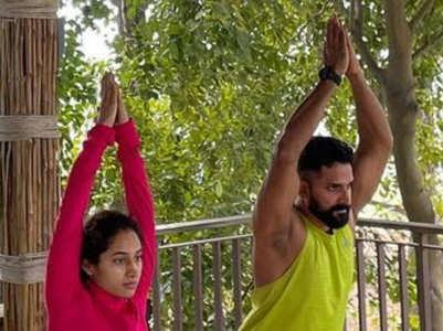 Inspiring fitness pics of John and Pooja