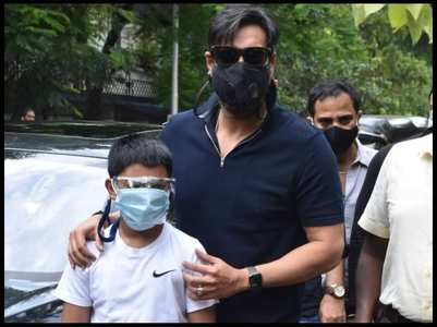 Ajay Devgn on planting trees with son Yug