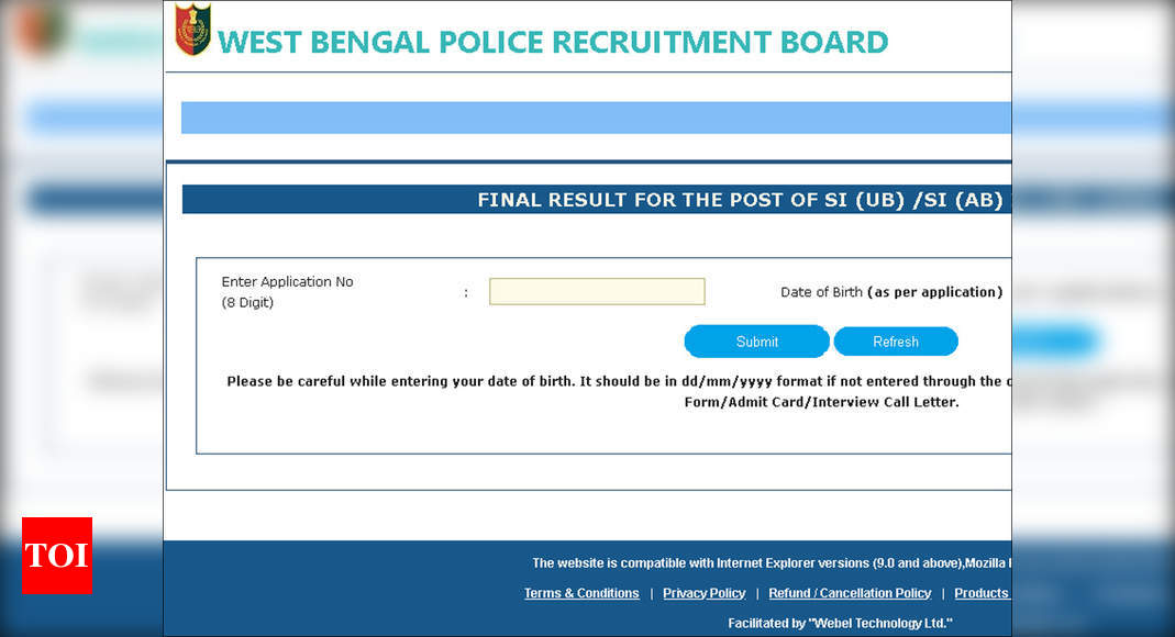 Photo of WBPRB West Bengal Police SI final result announced at wbpolice.gov.in