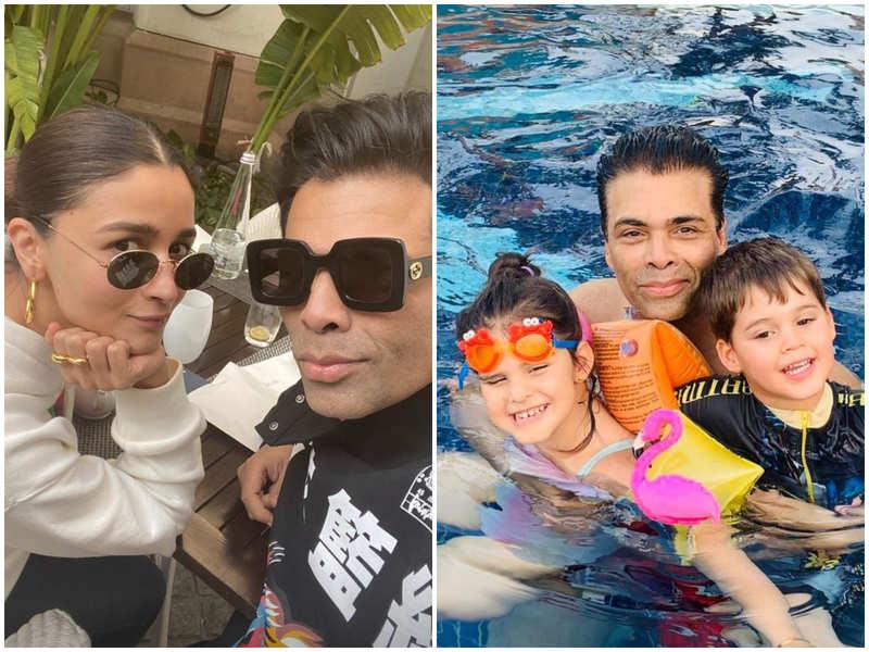 Karan Johar has the sweetest way of embracing fatherhood with his 'baby girl' Alia Bhatt and kids Yash, Roohi