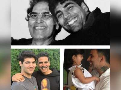 Akshay shares a pic with his dad and kids