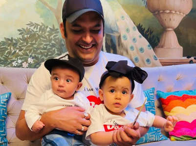 Kapil shares first pic with baby boy Trishaan