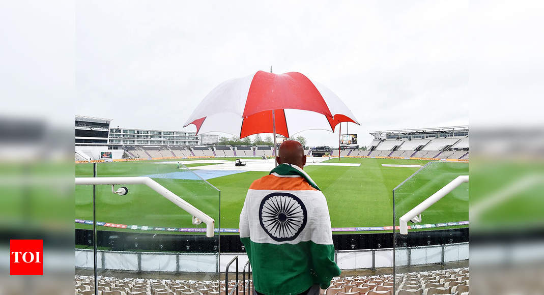 WTC Final, India vs New Zealand: More heavy rain in Southampton; Day 4 fate hangs in the balance | Cricket News – Times of India