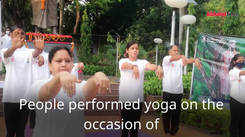 Students join the celebrations of International Yoga Day 2021 in Prayagraj