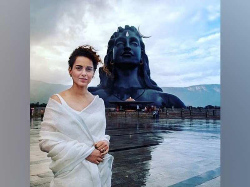 Kangana Ranaut clicks at Adishakti Aashram (Image source: Instagram)