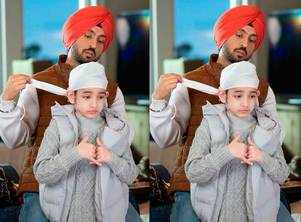 Honsla Rakh Diljit Dosanjh shares the most adorable picture with Shinda Grewal