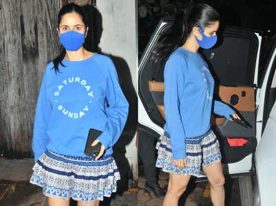 Katrina Kaif matches her mask to her top