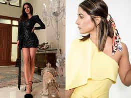 Mouni Roy and Hina Khan up their fashion game