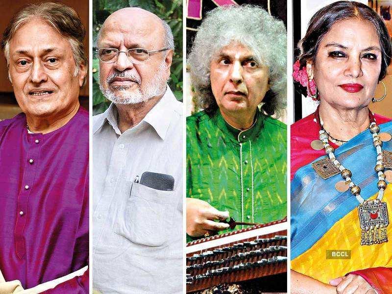 Amjad Ali Khan, Shyam Benegal, Shivkumar Sharma and Shabana Azmi ( L to R)