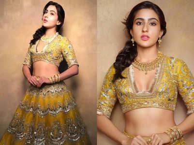Sara Ali Khan's yellow lehenga will brighten up your day