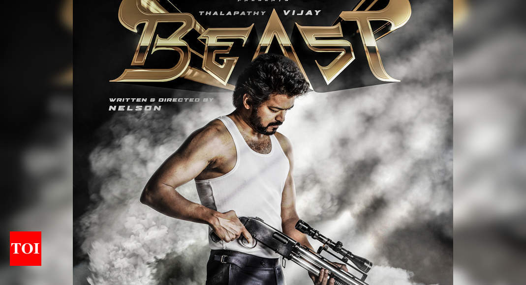 Thalapathy 65 first look: Vijay's film titled 'Beast'