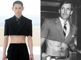 Fendi revives Philip Garner's half-suit from 1982