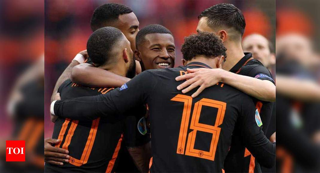 Euro: Netherlands beat North Macedonia to complete clean sweep in Group C