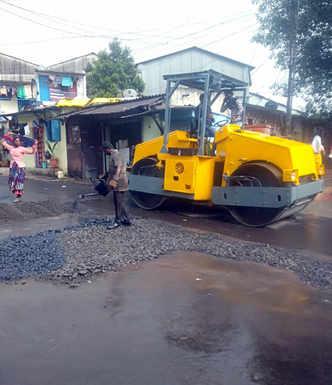 PCMC tars road in rains