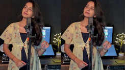Kinjal Dave hints a new song as she poses in a recording studio - Exclusive!