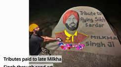 Tributes paid to late Milkha Singh through sand art