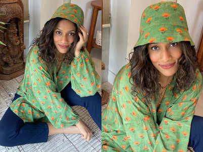 Masaba Gupta's matching bucket hat and blouse