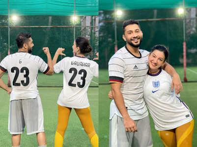 Gauahar-Zaid's football game; see pics
