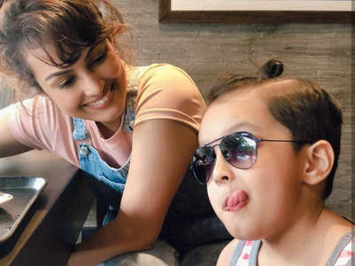 Nisha Rawal shares pictures with son Kavish
