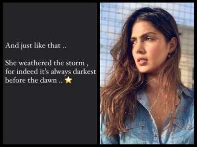 Rhea Chakraborty: Always darkest before dawn