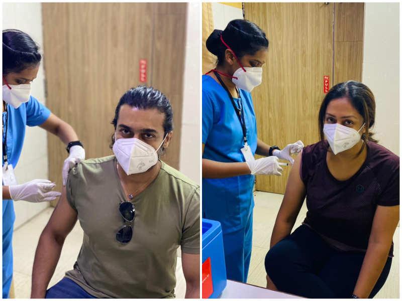 Suriya and Jyotika get COVID-19 vaccination