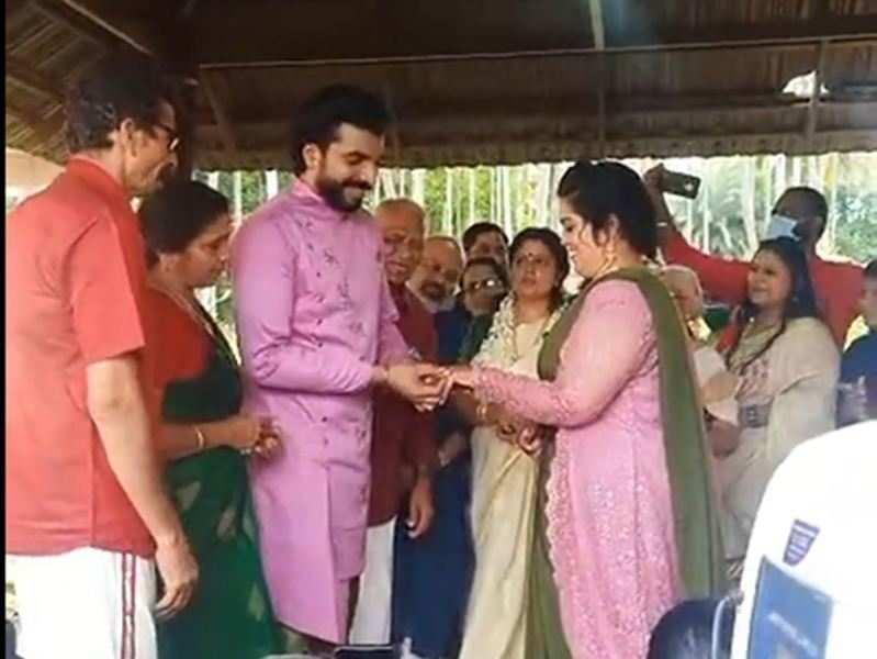 Bigg Boss fame Anoop Krishnan gets engaged to long-term girlfriend Dr Aishwarya Nair; watch video