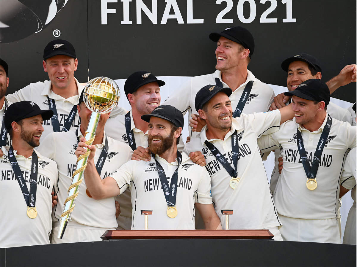 India vs New Zealand WTC Final Highlights: Kane Williamson, Ross Taylor  guide New Zealand to inaugural WTC title - The Times of India