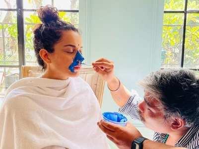 Kangana Ranaut preps for Indira Gandhi film