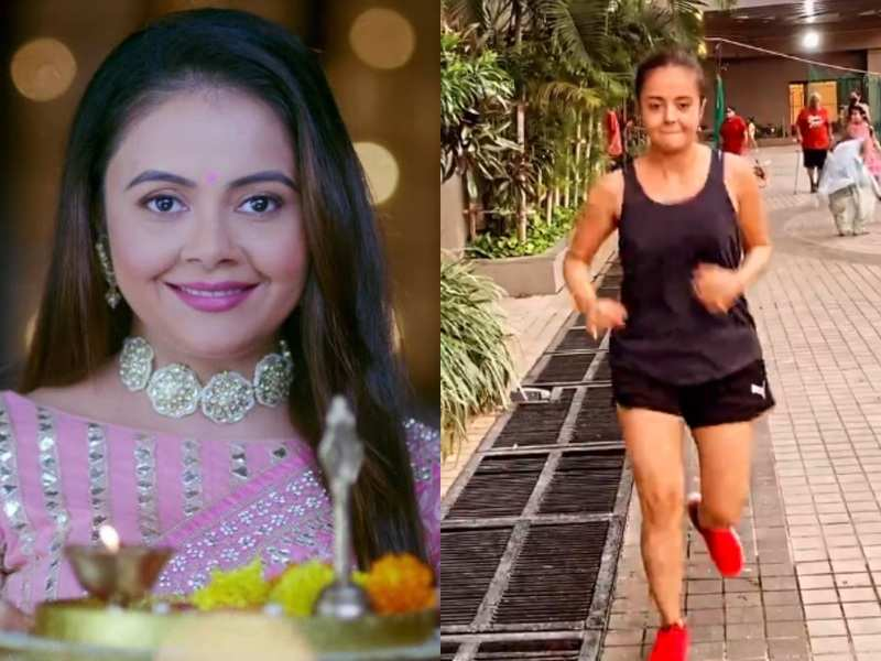 'Gopi bahu' Devoleena Bhattacharjee shares her cardio routine in shorts and tank top; a user warns her of 'Kokila' and asks her to rush home