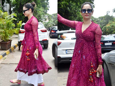 Ankita Lokhande's bandhani angrakha
