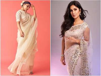Actresses who pulled off sheer saree look