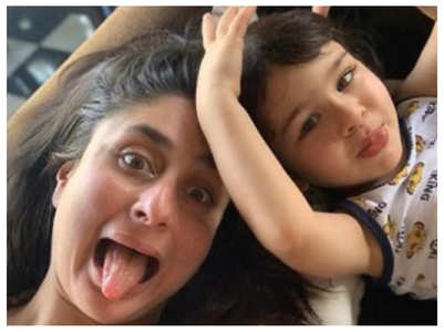 Kareena Kapoor's movie night with Taimur