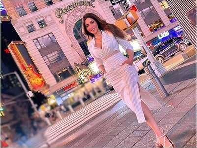 Shama on her New York holiday with James
