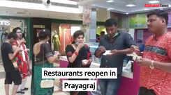 Restaurants reopen in Prayagraj