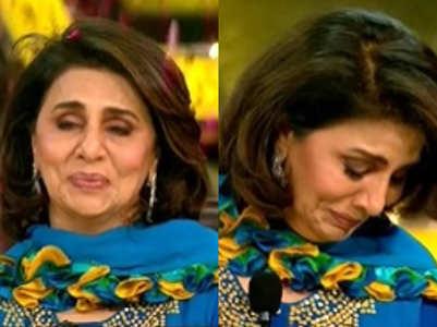 Neetu remembers Rishi Kapoor; cries