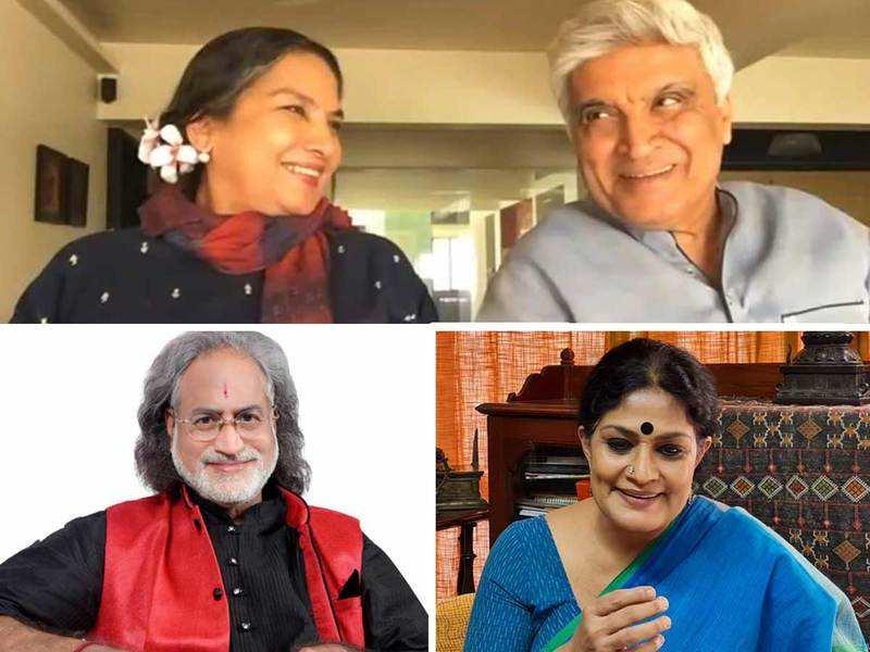 Shabana Azmi, Javed Akhtar, Pt Vishwa Mohan Bhatt and Geeta Chandran