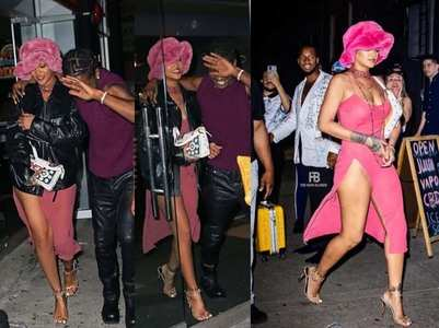 Rihanna's date with ASAP Rocky; pics go viral