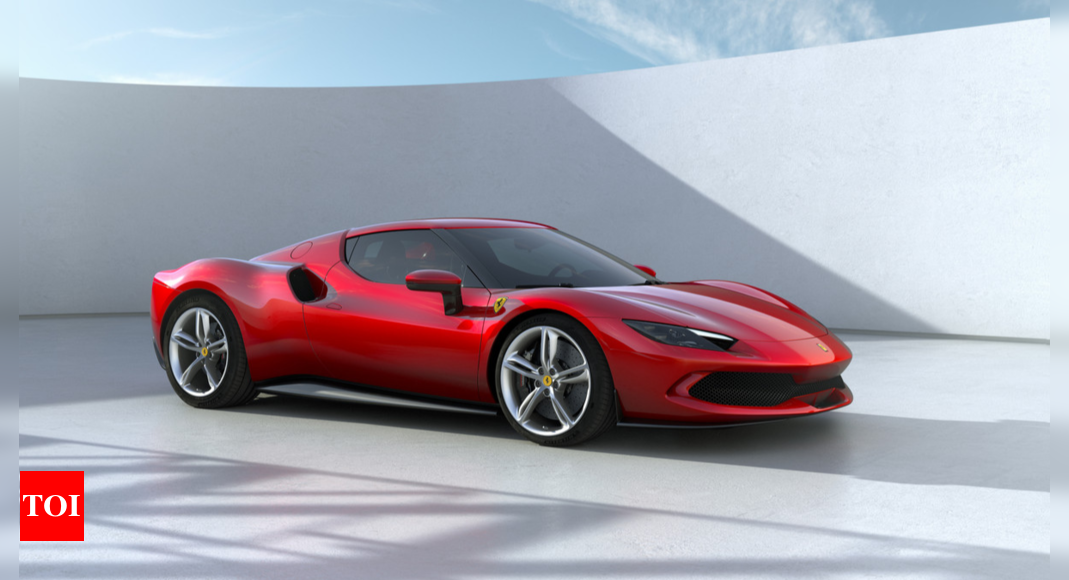 Ferrari unveils hybrid V6 sports car to expand electrified offer – Times of India