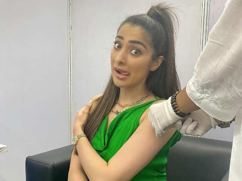 Raai Laxmi overcomes trypanophobia to get COVID-19 vaccination