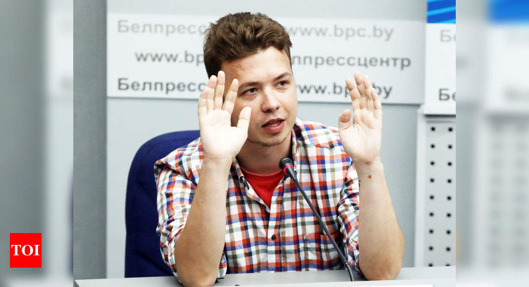 Belarus moves jailed opposition blogger Roman Protasevich to house arrest: BBC - Times of India