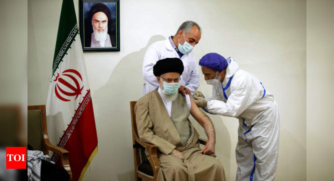 Iranian leader gets 1st dose of domestic Covid vaccine – Times of India